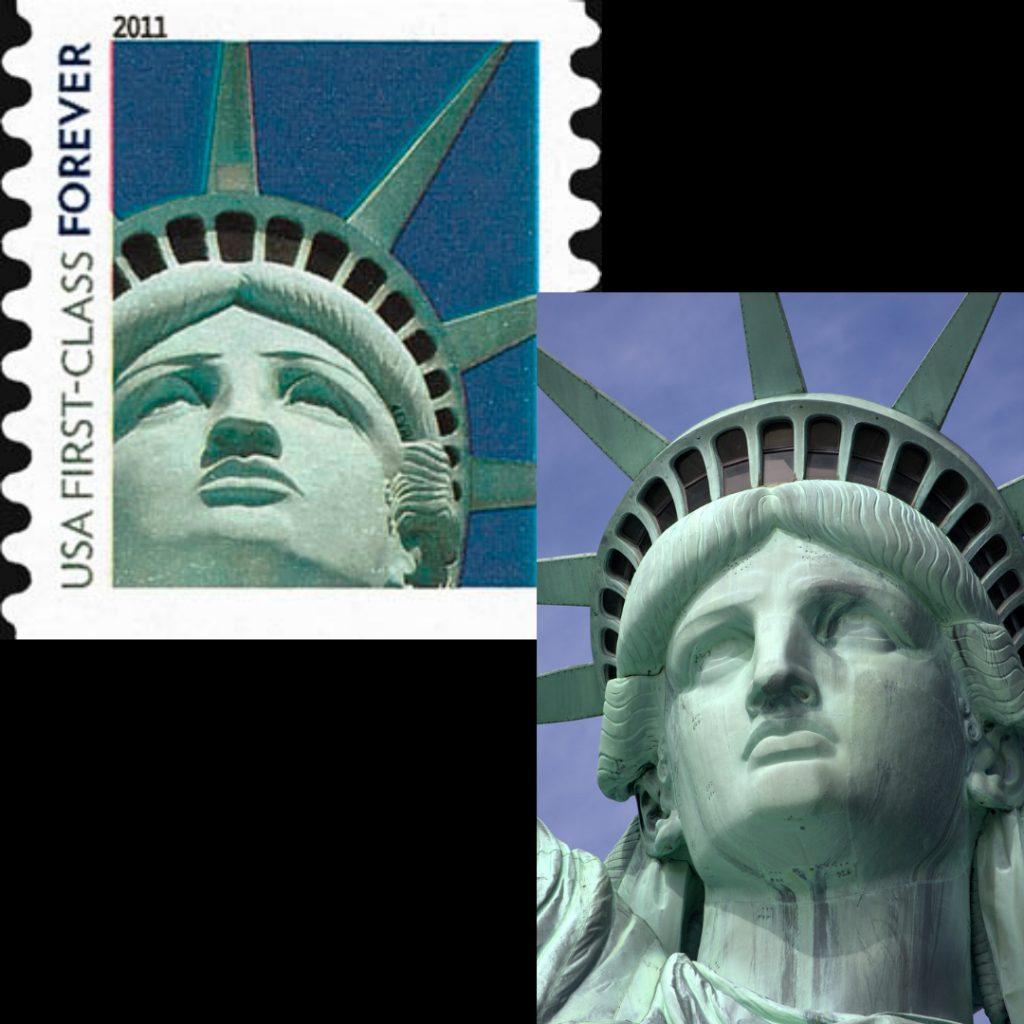 statue liberty stamp
